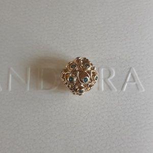 Pandora Ocean Treasures 14k gold charm